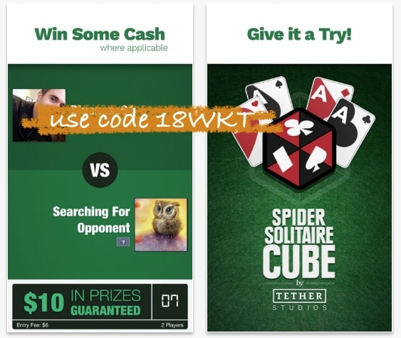 spider solitaire cube promo code 18WKT