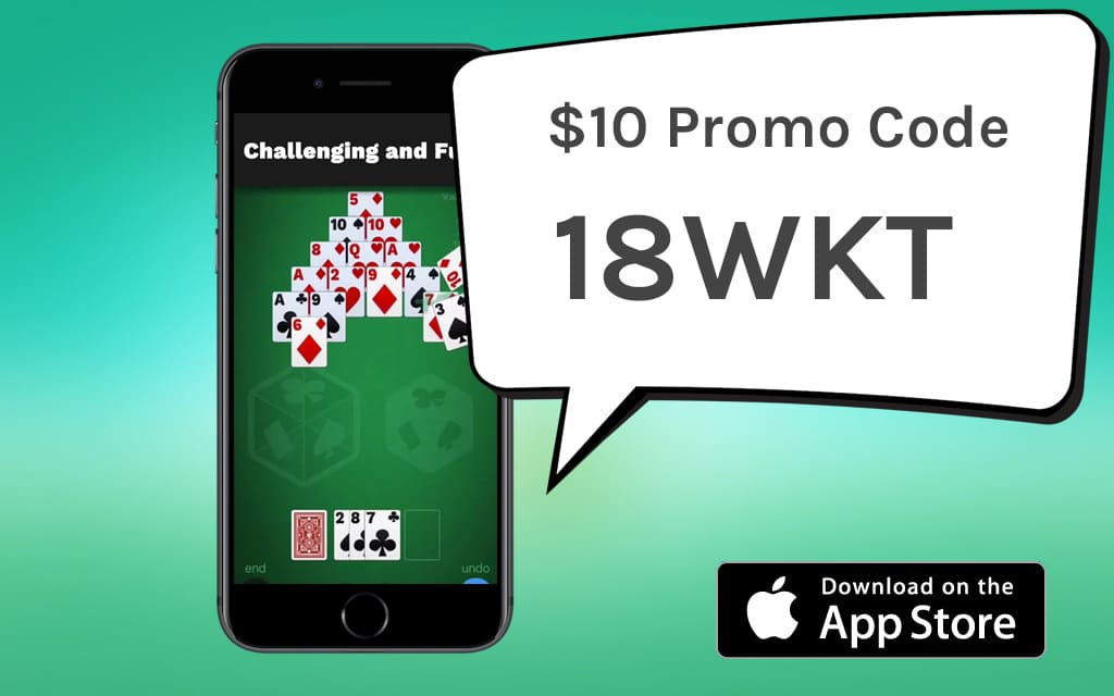 Pyramid Solitaire Cube Promo Code 18WKT