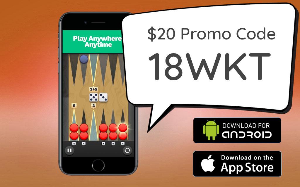 Backgammon Blitz Promo Code 18WKT