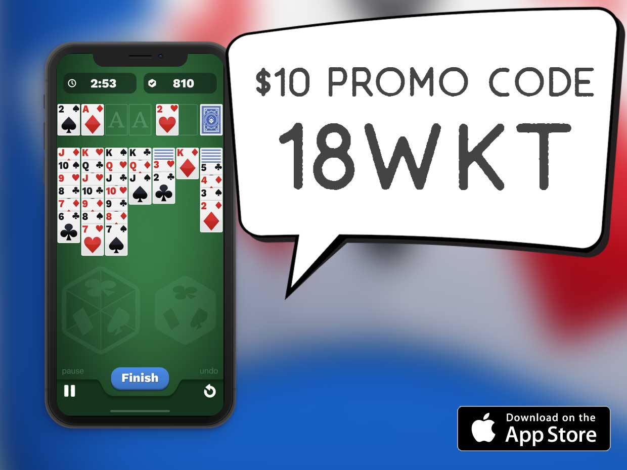 One Solitaire Cube Promo Code 18WKT